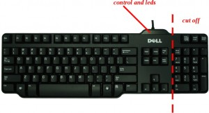 keyboard to be cutted